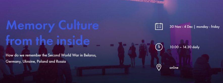 """Online-Kurs teil """"Erinnerungskultur von innen: Wie erinnern wir uns an den Zweiten Weltkrieg in Belarus, Deutschland, der Ukraine, Polen und Russland?"""""""