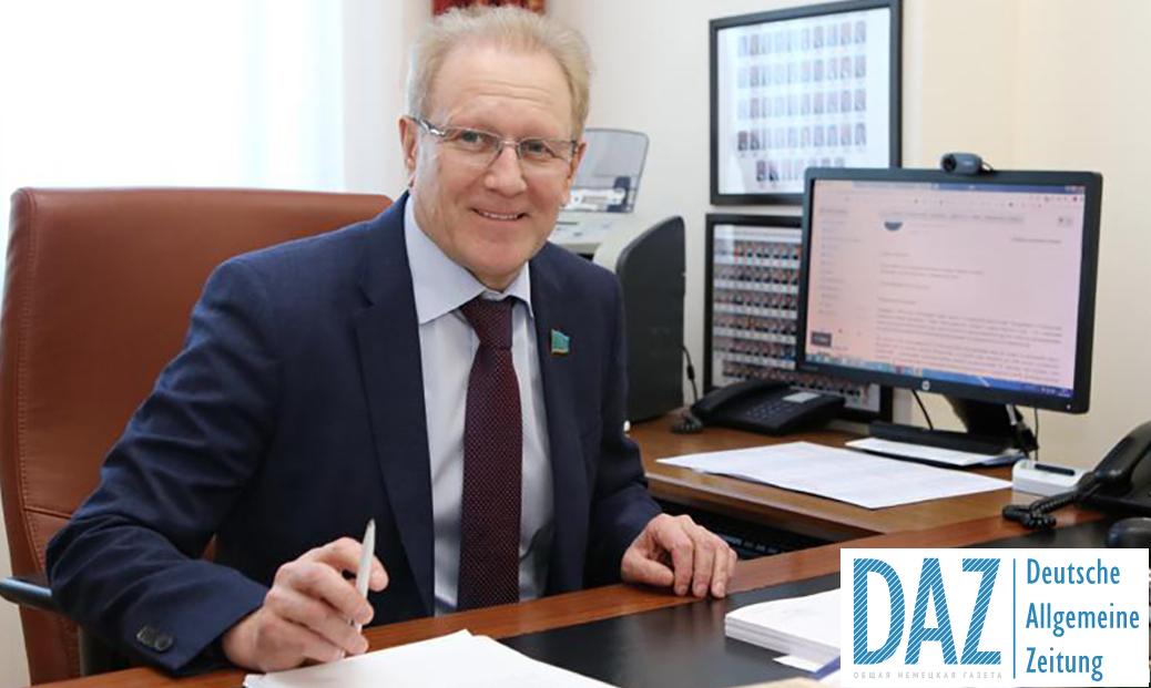 FUEN und AGDM gratulieren Albert Rau zur Wiederwahl