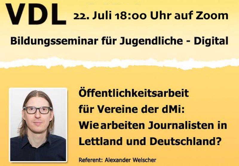 Öffentlichkeitsarbeit für Vereine der dMi: Wie arbeiten Journalisten in Lettland und Deutschland
