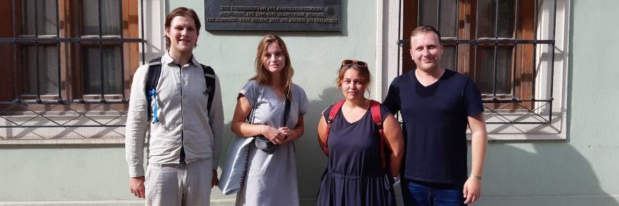 Zu Besuch in der Redaktion des Karpatenblattes